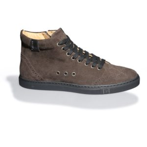 Brown High-top Suede Sneakers