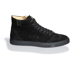 Black High-top Suede Sneakers